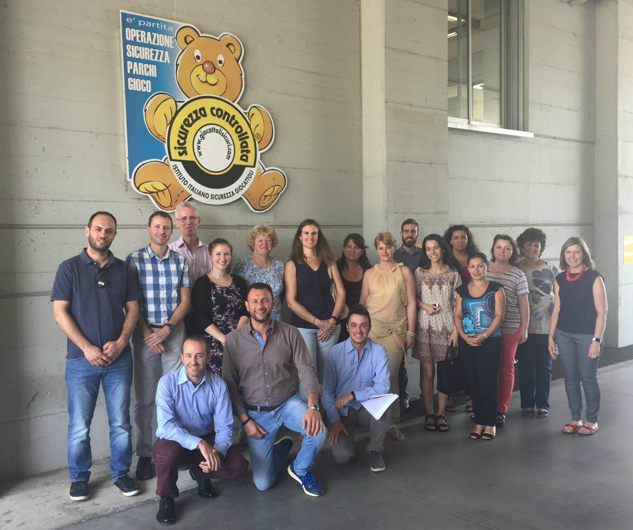 Participants in CCA5 met at the laboratory in Italy