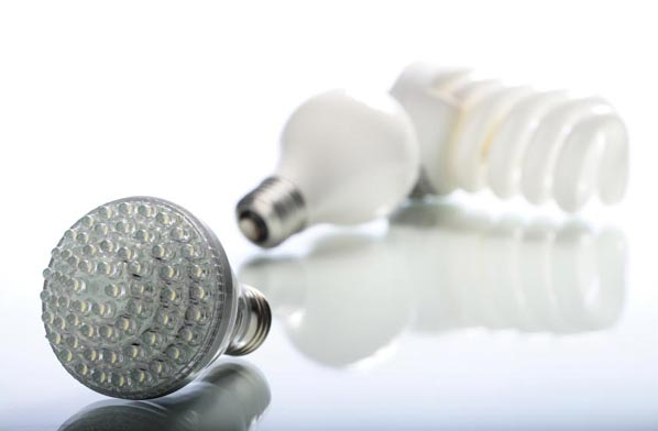 LED CFL light bulbs